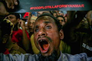 Rohingya protest at UN (Mohd Samsul Mohd Said:Getty Images) Oct 29 2016