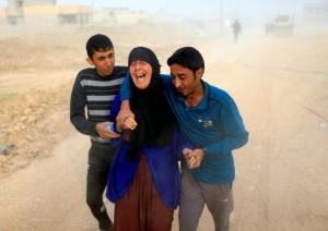 Displaced Iraqi woman (Ahmed Jadallah:Reuters) Nov 14 2016