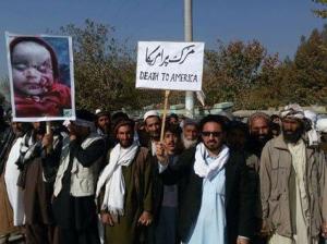 Kunduz Afghanistan protest vs US airstrike (Nov 6 2016