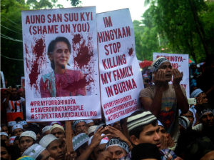 Rohingya rally in Kuala Lampur Nov 25 2016 (Getty)