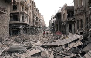 Saadallah al-Jabri square, in Aleppo, on October 3, 2012. # AP Photo:SANA