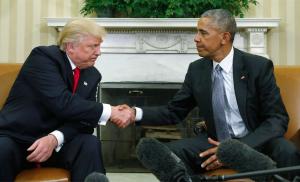 Trump & Obama ((Kevin Lamarque:Reuters) Nov 12 2016