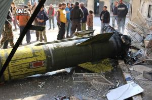 Unexploded Russian missile in Aleppo Nov 25 2016
