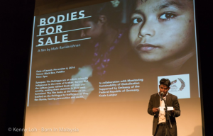 Ziaur speaking at the screening of 'Bodies for Sale' in November, 2015 in Kuala Lumpur
