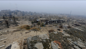 An overview of the war-damaged Old City of Aleppo on December 13, 2016 #  Omar Sanadiki : Reuters