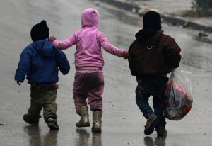 Children in Aleppo REUTERS:Abdalrhman Ismail) Dec 14 2016