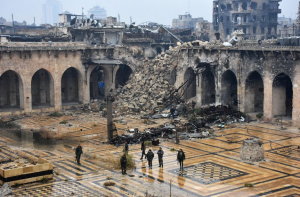 Umayyad mosque old city of Aleppo George Ourfalian:AFP:Getty Images: Dec 14 2016