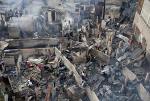 Bicutan fire Jana 18 2017 ( Erik de Castro:Reuters) Jan 18 2017