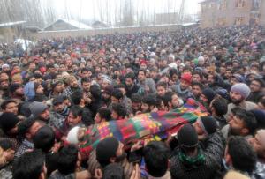 Funeral of 3 slain militants Jan 16 2017 (Pic; Shah Jehangeer) Jan 19 2017