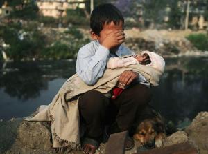 Nepalese Dalit child evicted from slum ((Photo by Bikash Dware:Reuters) Jan 24 2017