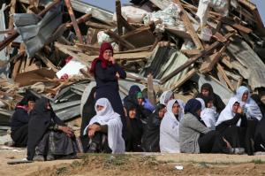 Umm al-Hiran demolished (Menahem Kahana:AFP:Getty Images) Jan 18 2017