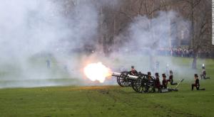 41 gun salute in Greek Park, London Sapphire Jubilee CNN: Feb 16 2017