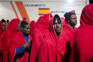 African refugees at Granada Spain ( Paquet:EPA) Feb 2 2017