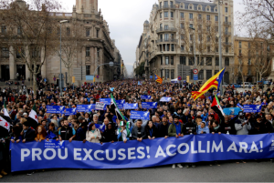 Barcelona protest Feb 18 2017