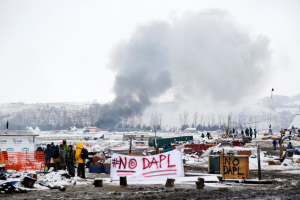 DAPL protest camp Cannon Ball ND (REUTERS:Terray Sylvester) Feb 23 2017