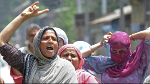 Kashmiri women protest --BBC