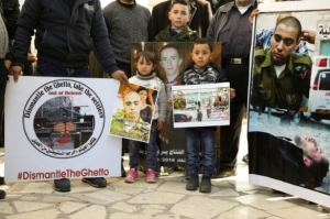 Palestinian kids protesting verdict of Alor Azaria Feb 22 2017