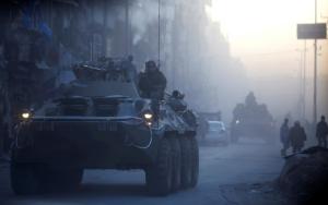Russian armored vehicles east Aleppo (REUTERS:Omar Sanadiki) Feb 3 2017