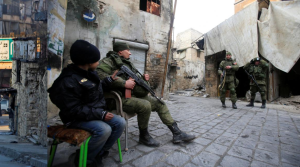 Russian soldiers Aleppo, Syria January 31, 2017. REUTERS:Ali Hashisho) Feb 4 2017