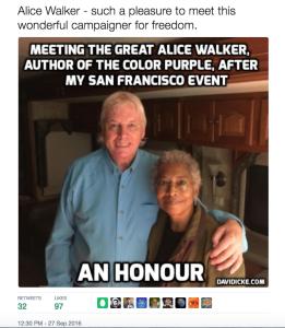 David Icke and Alice Walker