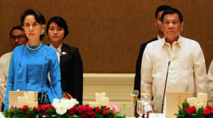 Duterte with Suu Kyi on state visit to Myanmar Mar 28 2017 (AP) Mar 29 2017
