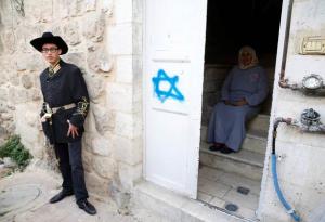 Hebron Purim 2017 ( REUTERS:Baz Ratner) Mar 13 2017