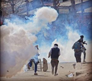 Protests in Srinagar Mar 17 2017