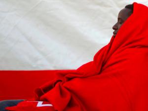 Rescued African refugee in Spain ( REUTERS:Jon Nazca) Mar 3 2017