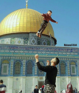Tossing Palestinian kid in air (Shehab News AGency) Feb 28 2017
