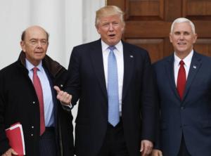 Wilbur Ross, Trump, Pence