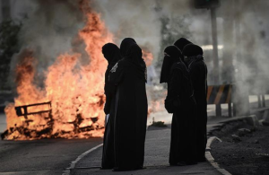 Bahrain women burning tires ((Photo by Mohammed Al-shaikh:AFP:Getty Images) Apr 18 2017
