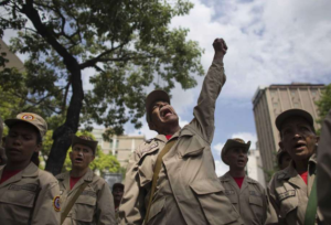 Bolivarian Militias Apr 28 2017:Ariana Cubillos, AP