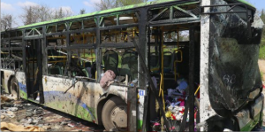 Bus of suicide bomber