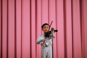 North Korean boy violinist ( (Carlos Barria:Reuters)  Apr 17 2017