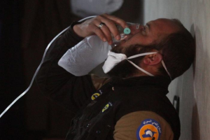 White Helmet at Khan Sheikhoun (REUTERS:Ammar Abdullah) Apr 4 2017