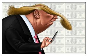 Caricature of Trump