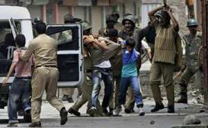 Kashmiri kids being arrested (from Stand with Kashmir FB wall) May 22 2017