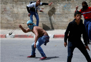 Pal protesters near Ramallah:Beil El (REUTERS:Mohamad Torokman) May 15 2017