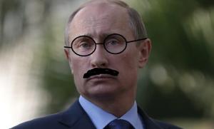 Putin in mustache May 10 2017
