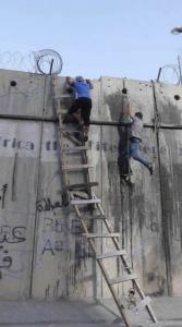 Climbing apartheid wall (June 13 2017)