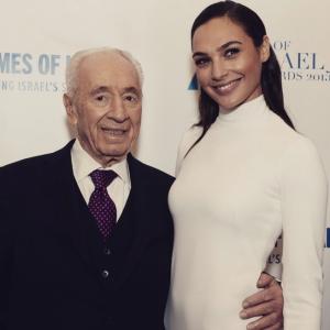 Gal Gadot and Shimon Peres Feb 2015