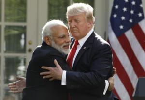 Modi and Trump (Reuters:Kevin Lamarque) June 27 2017