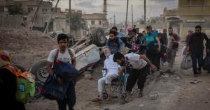 Mosul civilians fleeing (Ivor Prickett for The New York Times) June 8 2017