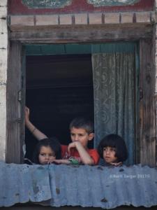 Children during curfew like restrictions (Basit Zargar) July 3 2017