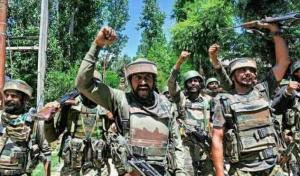 Indian soldiers celebrating death of cilians (tweeted by Raqeeb Ashraf) July 3 2017