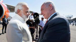 Modi and Netanyahu (PTI photo) July 5 2017