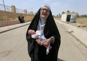 Mosul elderly woman and baby ( REUTERS:Alaa Al-Marjani) July 5 2017