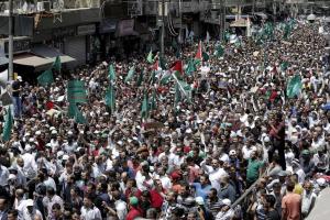 Pro Al Aqsa protest in Jordan July 23 2017