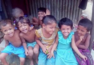 Rohingya kids from Imran's wall July 14 2017