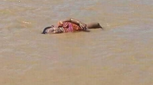 Drowned Rohingya child in Naf (yenisafak) Aug 30 2017